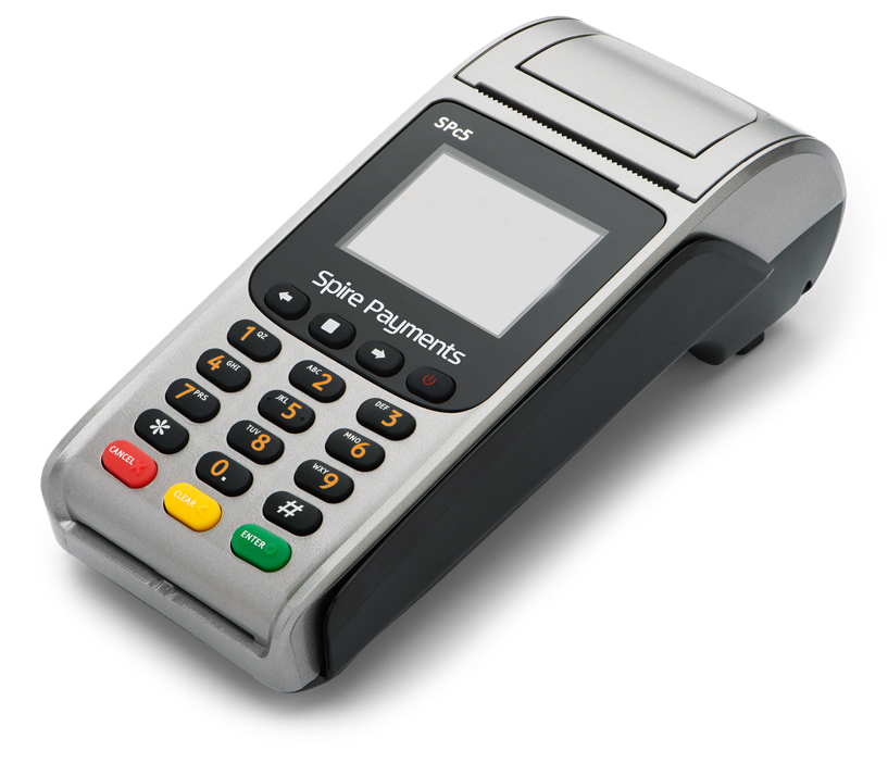 Wired or Corded Card payment terminals